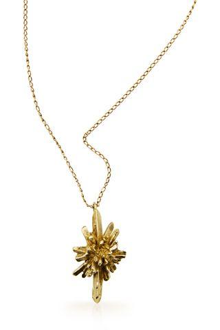 Statement jewelry by Andy Lifschutz: stalagmite star necklace