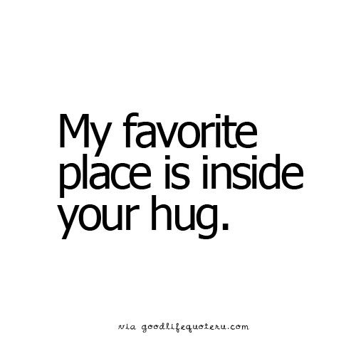 ❥ My favorite place is inside your hug