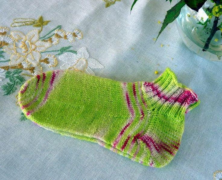 Eigentlich stricke ich die Fersen meiner Socken im…