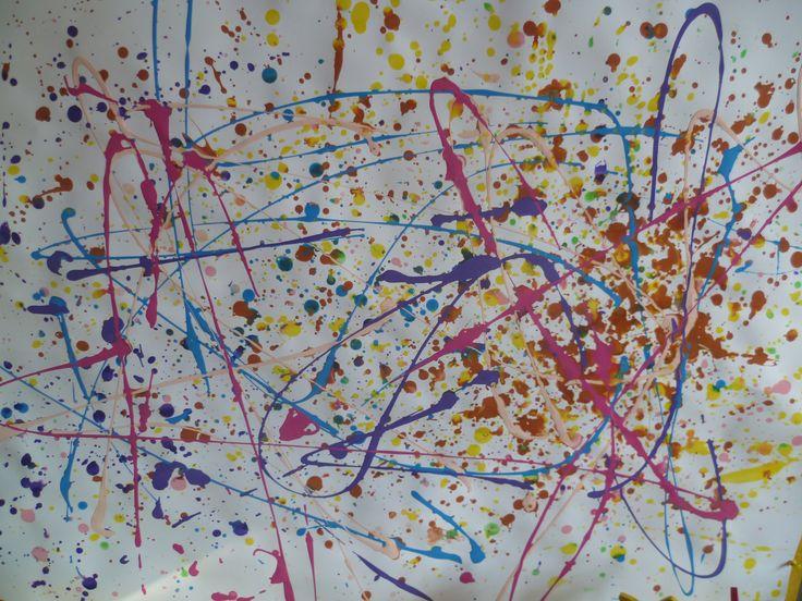 Spatten met verf - Inspiratie: Jackson Pollock