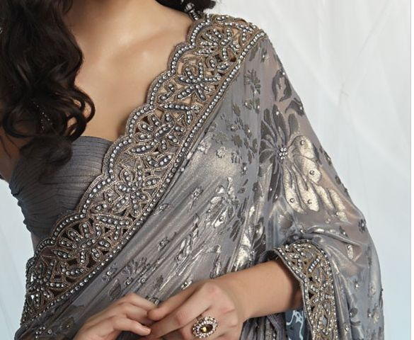 Not necessarily in this color....but I love the texture of the blouse and pattern of the sari