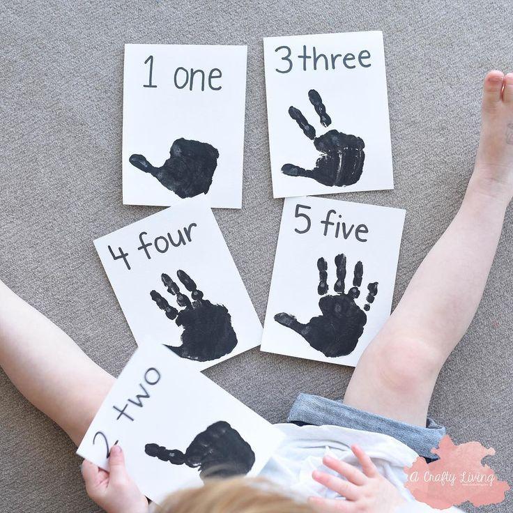 DIY Handprint Counting Flashcards