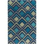 Sego Dark Blue 3 ft. 6 in. x 5 ft. 6 in. Indoor Area Rug