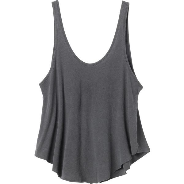 RVCA Women's  Label Drape Tank Top ($24) ❤ liked on Polyvore featuring tops, shirts, tank tops, crop tops, black, black singlet, loose fitting tank tops, jersey tank top, black shirt and loose tank