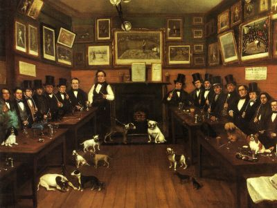 An Early Canine Meeting by R. Marshall (1855). Courtesy The Kennel Club, UK