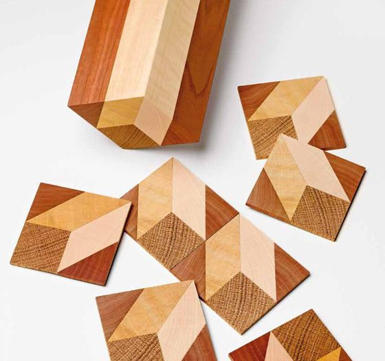 Pattern of sawn puzzle sections for marquetry work