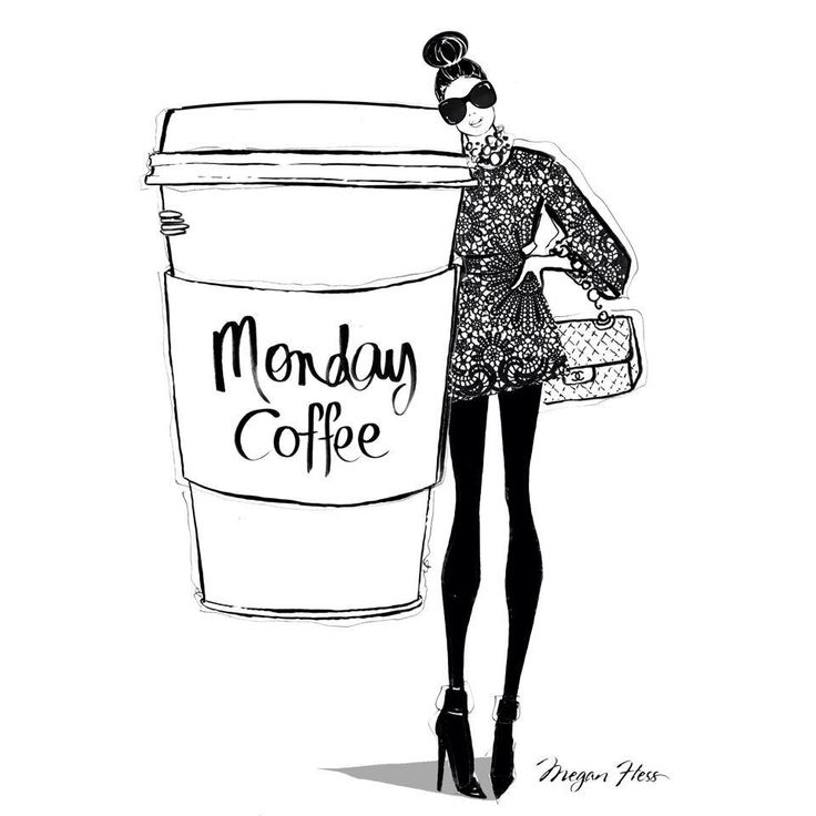 Monday coffee by Megan Hess Illustration