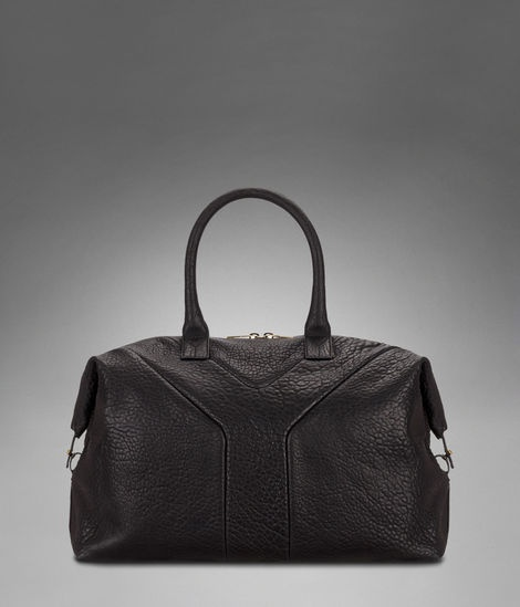 Check out Medium YSL Easy in Black Textured Leather at http://www ...