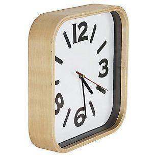 SM Reloj medera 26 cm blanco