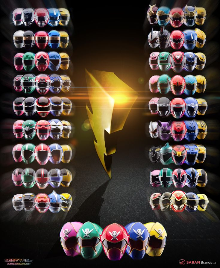 Poster of all Power Rangers