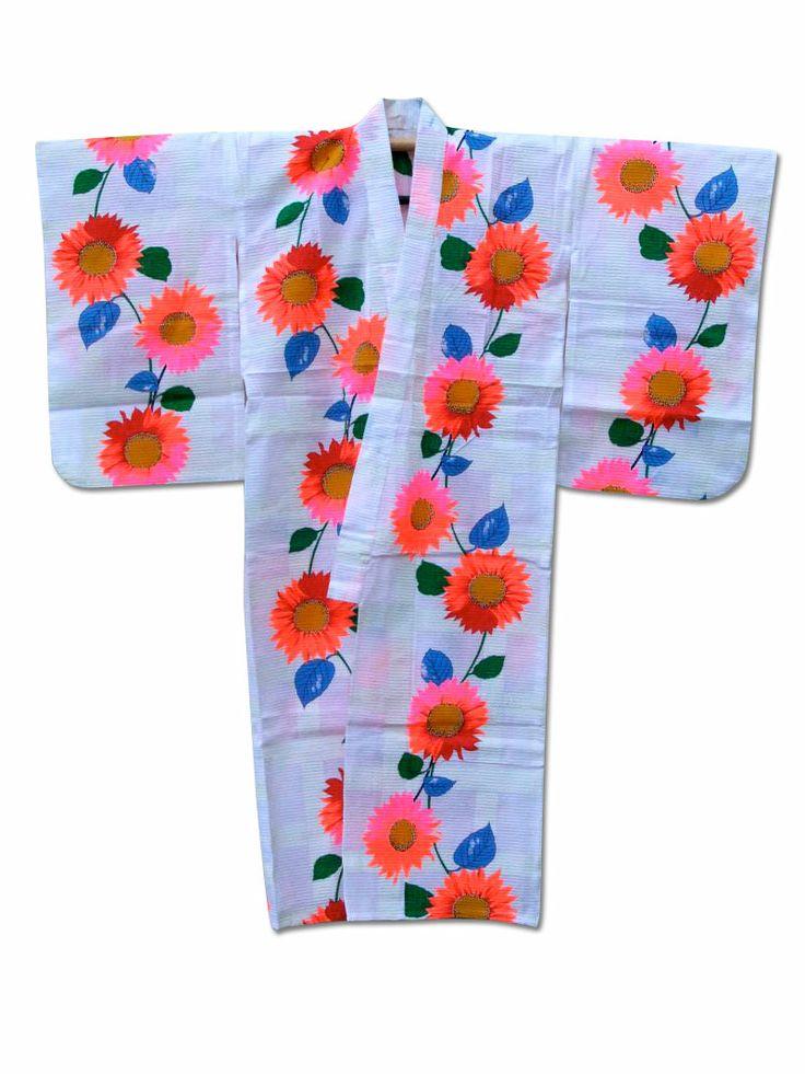 ★ Dayglow ★ Girls cotton kimono Wow! vivid, bold and pretty :) x  http://www.fujikimono.co.uk/womens-cotton-kimono/dayglow.html
