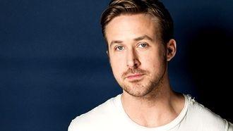 синий, ryan gosling, мужчина, актер, лицо, фон, райан гослинг