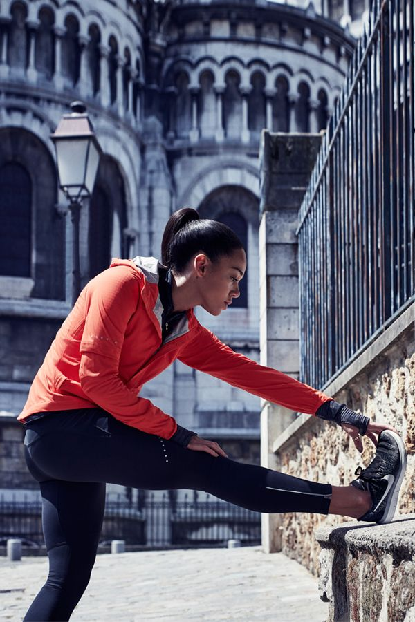 Hepathlete Katarina Johnson-Thompson sets up in the season's best cold weather innovations. Explore more running gear in the Nike Women Style Guide and get out here.