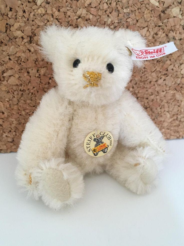 All Ids Vintage Steiff Club 2008 White Mini Teddy Bear by LoveVintageSteiff on Etsy