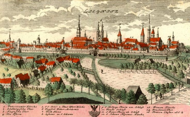 Znalezione obrazy dla zapytania ryciny polskich miast legnica