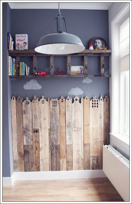 Muebles de palets - Habitación infantil con palets