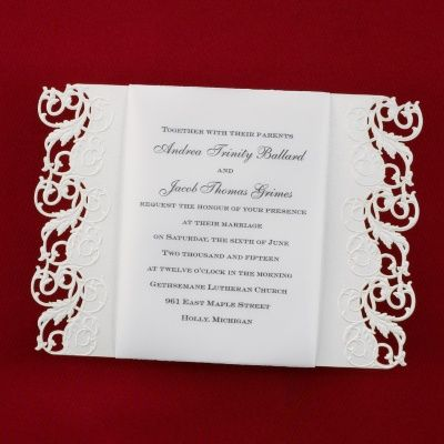 Elegant Edges Invitation | Carlson Craft Wedding U0026 Stationery Products