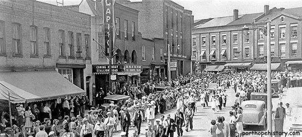 Orange walk, 1947, past the Capitol Theatre