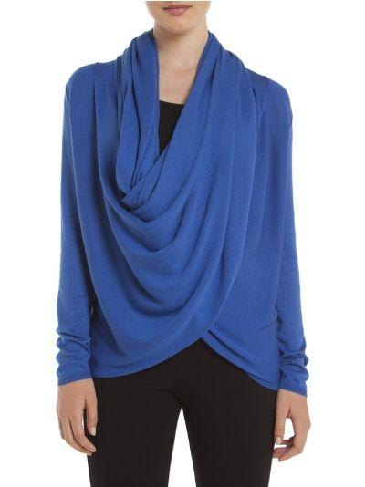 Multi-wrap cardi - Blue Sweaters and cardigans