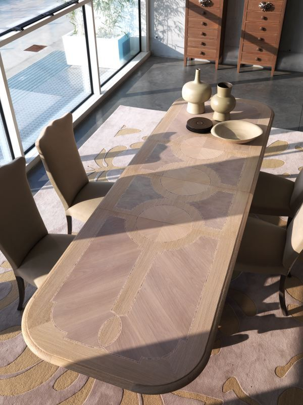 MM585 table extendable MAESTRALE NOCCILA color marchettimaison.com