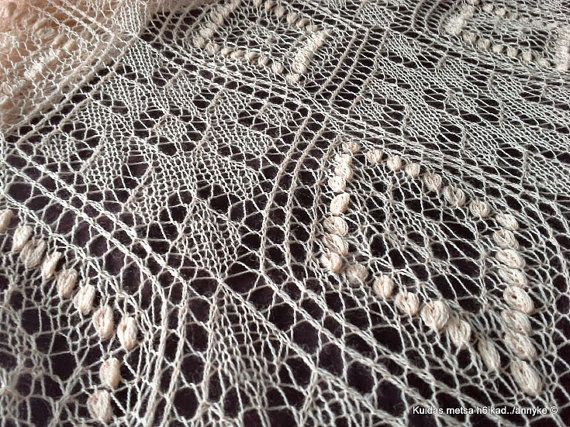 Hand knitted Haapsalu shawl traditional by AnnysLacyBoutique