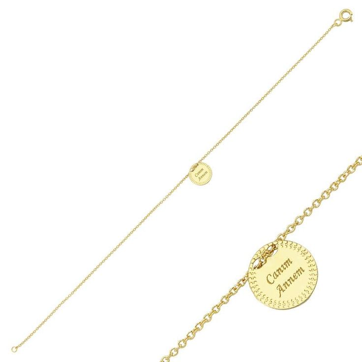 """Altın """"Canım annem""""Bileklik #altınbaşlife #bileklik #altın #takı #tasarım #hediye"""