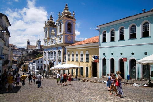 Historic Centre of Salvador de Bahia.As the first capital of Brazil, from 1549 to 1763, Salvador de Bahia witnessed the blending of European, African and Amerindian cultures. It was also, from 1558, the first slave market in the New World, with slaves arriving to work on the sugar plantations. The city has managed to preserve many outstanding Renaissance buildings. A special feature of the old town are the brightly coloured houses, often decorated with fine stucco-work.