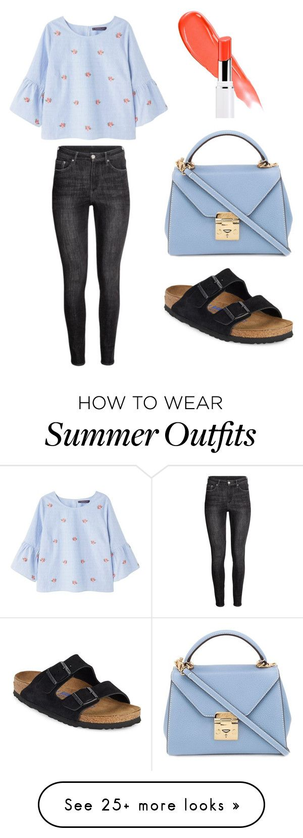 """Smart Summer Outfit"" by immylilly on Polyvore featuring Violeta by Mango, Birkenstock, Mark Cross and Lancôme"