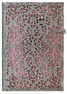 Blush Pink, from Paperblanks' Silver Filigree collection of writing journals. www.paperblanks.com