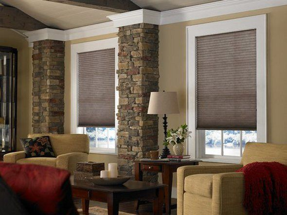48 best images about window covering ideas on pinterest - Living room bay window treatments ...