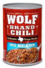 Delicious Canned Chili and Recipe Ideas  | Wolf Brand Chili