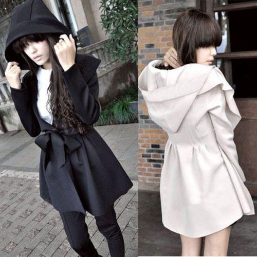 koreaanse vrouwen lange mouw hooded revers trenchcoat voor vrouwen uitloper slanke toevallige hoge kwaliteit windjack met tailleband