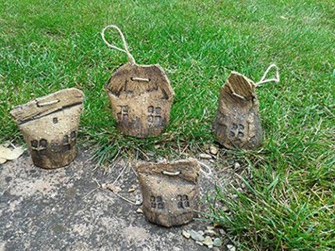 zvonky - trpasličí chaloupky dekorace zvonek keramický chaloupka domek