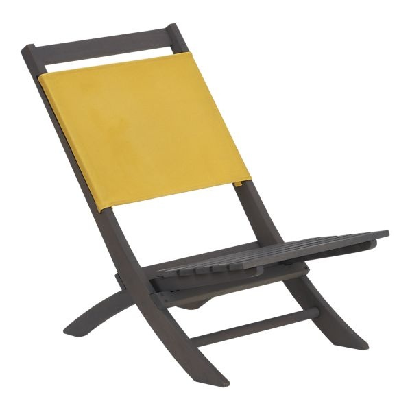 High Quality Low Slung Folding Chair Is Crafted Of Eco Friendly FSC Certified Mixed  Hardwoods