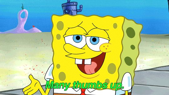 New trendy GIF/ Giphy. cartoon nickelodeon spongebob thumbs up thumbs many thumbs up. Let like/ repin/ follow @cutephonecases