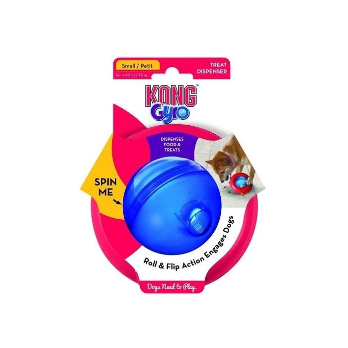 Kong Gyro Dog Toy Small Dog Toys Dogs Red Blue