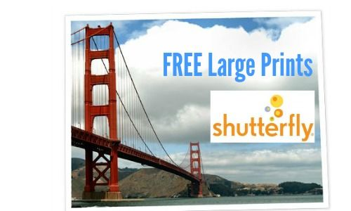 Check out this Shutterfly deal where you can get FREE large prints! Use the code YOUCHOOSE to get your choice of (1) 16x20 or (2) 8x10 prints.