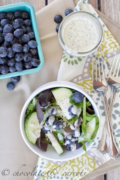 Summer Salad with Poppy Seed Dressing