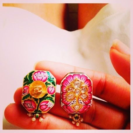 Its hot out there! Sparkle and cool off in these pink earrings and white ensemble.