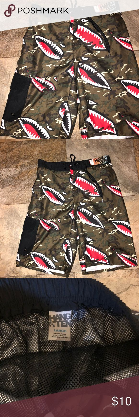 Boys shark swimsuit NWT size Large Boys shark swimsuit NWT size Large Hawke & Co Swim Swim Trunks