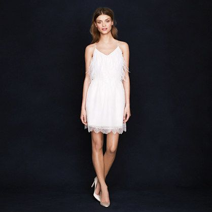 Wedding Gowns Under $1000 - J. Crew Eyelash lace skirt with Dewdrop Feather Cami