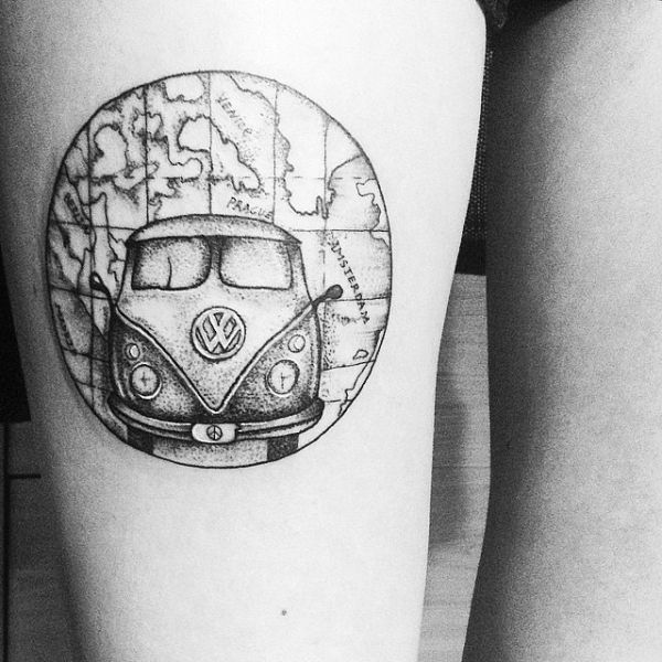 Map tattoos to fuel your inner wanderlust