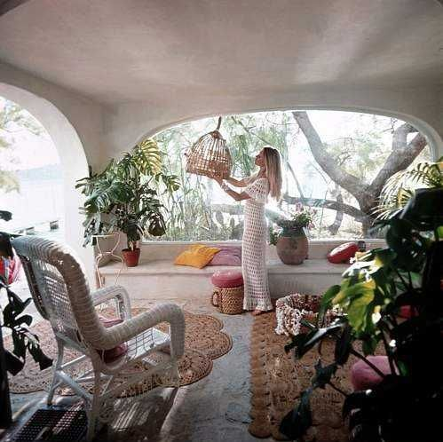 Brigitte Bardot at her home La Madrague on the coast of St. Tropez: