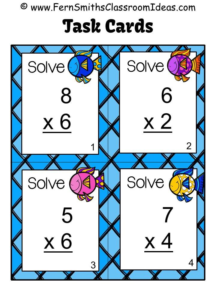 74 best Classroom Math Task Cards images on Pinterest | Math task ...