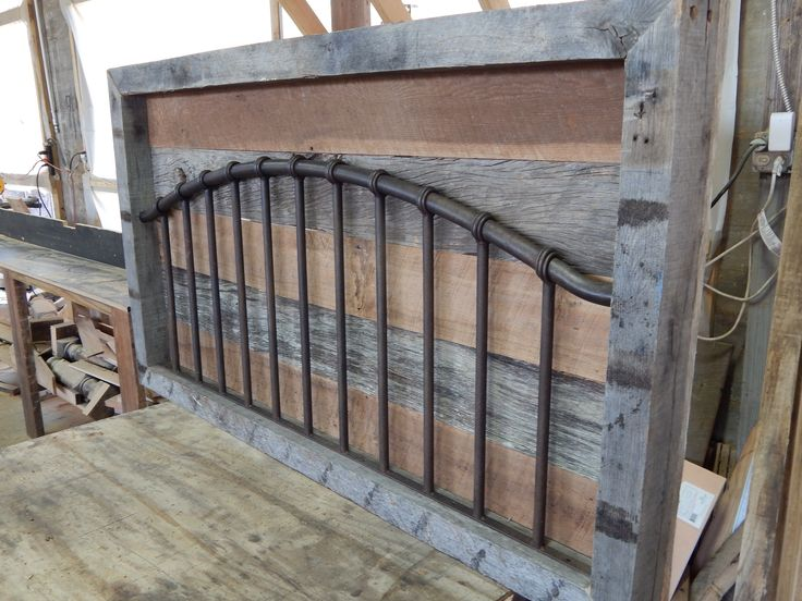 Beautiful reclaimed headboard inserted into 100 year old oak beam frame... Authenticly stunning! 205-800-7550