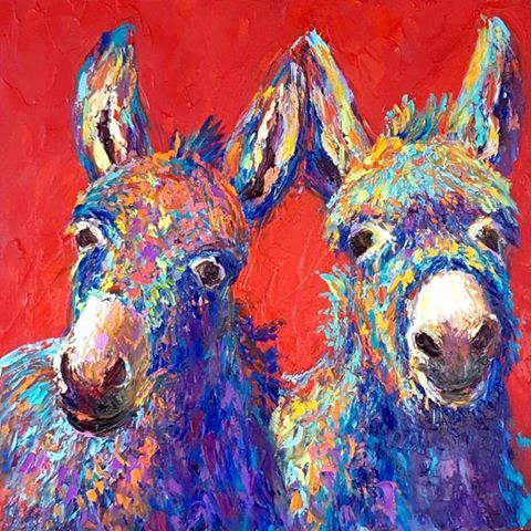 Mugshots-Team Players get what they want by working together,adorably! #‎summerburromadness #‎myfavoritecoloriswild #‎barbmeiklefineart  Barbara Meikle Fine Art