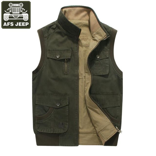 Check lastest price AFS JEEP Brand Vest Men Double-wear Colete Masculino Plus Size 8XL Cotton Multi-pockets Military Vest Working Waistcoat Men just only $37.45 - 40.33 with free shipping worldwide  #jacketscoatsformen Plese click on picture to see our special price for you