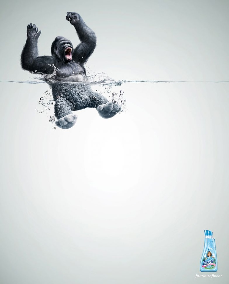Lenor fabric softener : Gorilla [image] | scaryideas.com