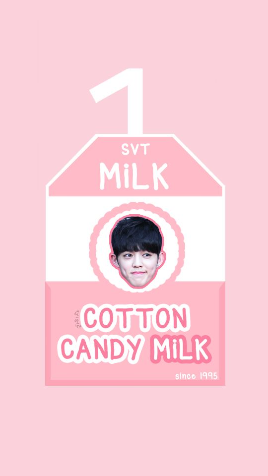 SEVENTEEN MILK BOX [COTTON CANDY MILK - S.COUPS] #seventeen #svt #carat #17 #love&letter #repackagealbum #verynice #scoups #hoshi #jun #joshua #woozi #dokyeom #mingyu #the8 #vernon #seungkwan #jeonghan #wonwoo #dino #wallpaper