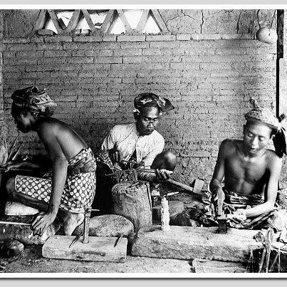 Indonesia, Bali  ~ Goldsmiths in Bali - 1920s